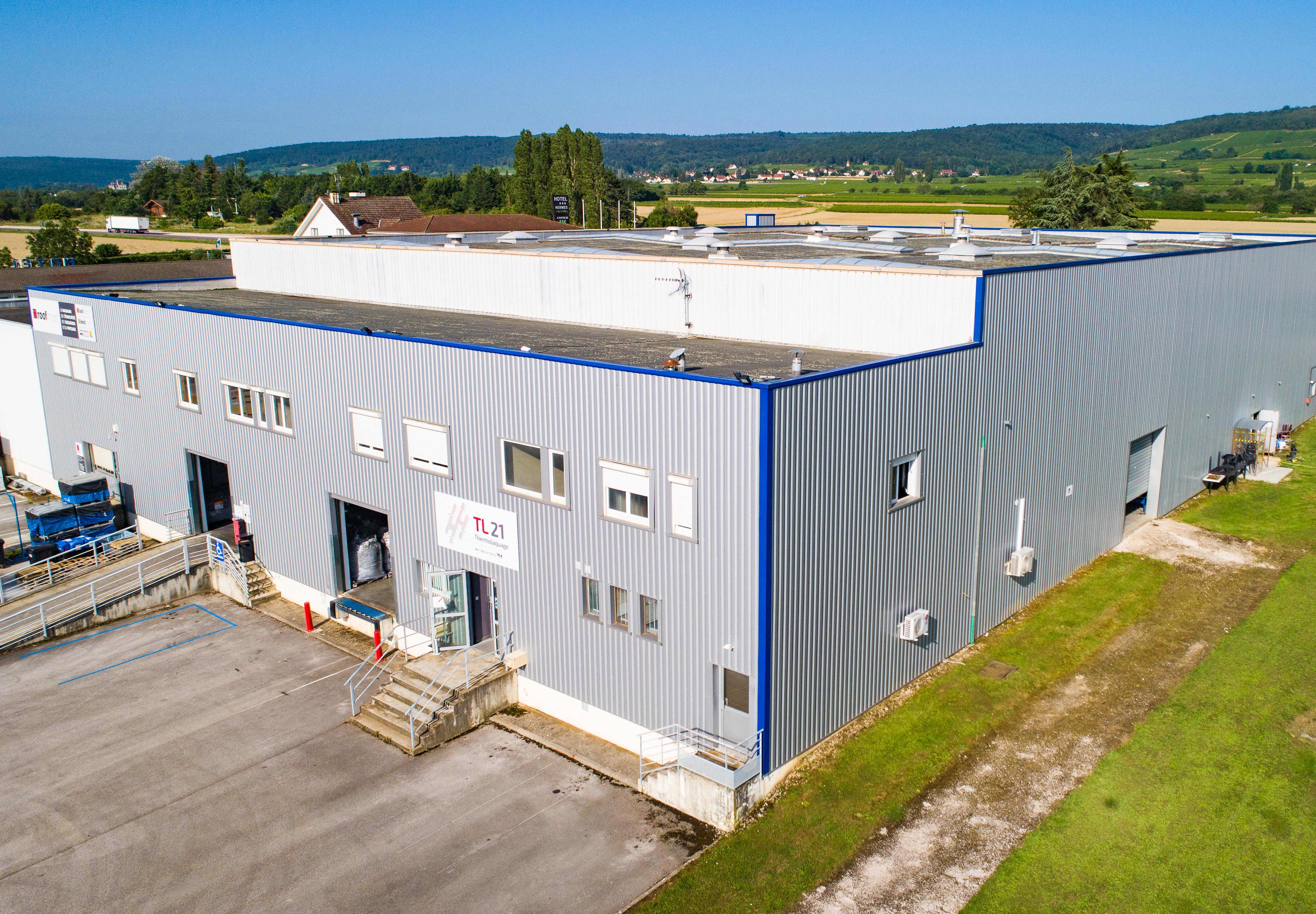 L'usine vue extérieure de TL21 spécialiste thermolaquage